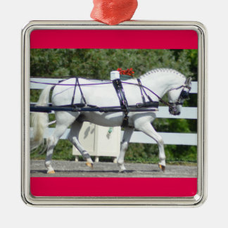 Walnut Hill Carriage Driving Show 2015 Silver-Colored Square Decoration