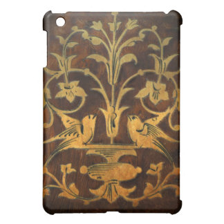 Walnut Inlay Birds & Flowers iPad Case