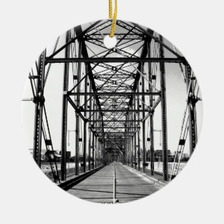 WALNUT STREET BRIDGE - CHATTANOOGA, TN CERAMIC ORNAMENT