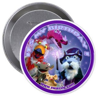 Walnut the Wizard Birthday Button