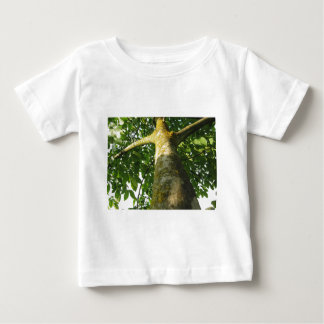 Walnut tree trunk with yellow moss fungus baby T-Shirt