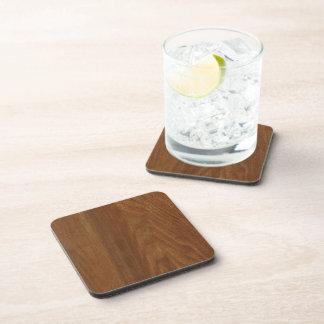 WALNUT WOOD American finish  blank blanche + TEXT Drink Coasters