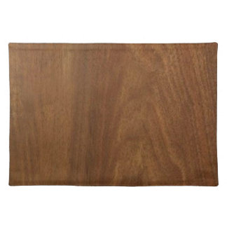 WALNUT WOOD American finish  blank blanche + TEXT Placemat