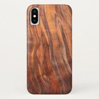 Walnut (Wood Grain) iPhone X Case