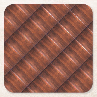 WALNUT WOOD WODDEN FINISH GIFTS SQUARE PAPER COASTER