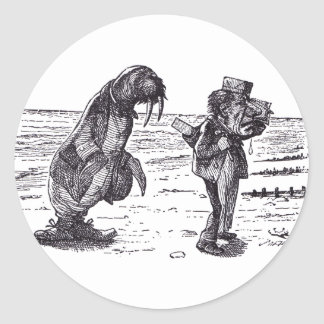 Walrus and Carpenter 1 Classic Round Sticker
