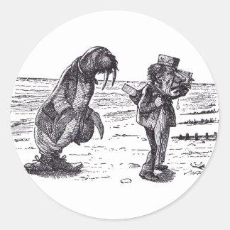 Walrus and Carpenter 1 Round Sticker