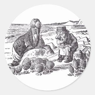 Walrus and Carpenter 2 Classic Round Sticker