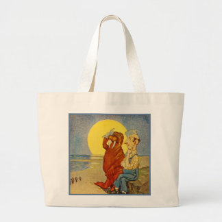 Walrus and the Carpenter Large Tote Bag