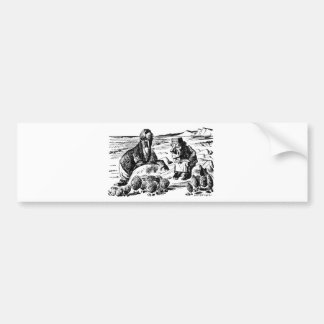 Walrus, Carpeter and Oysters Bumper Sticker