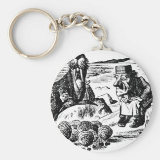 Walrus, Carpeter and Oysters Key Ring