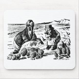 Walrus, Carpeter and Oysters Mouse Pad