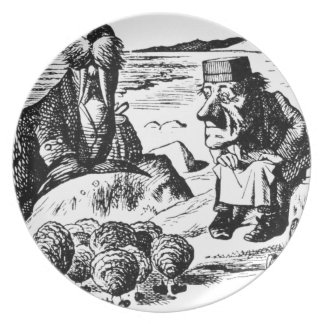 Walrus, Carpeter and Oysters Plate