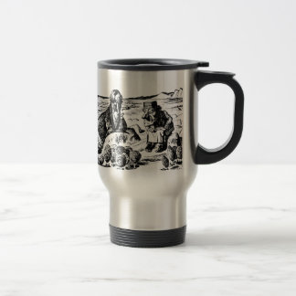 Walrus, Carpeter and Oysters Travel Mug