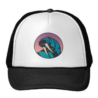 walrus circle design cap