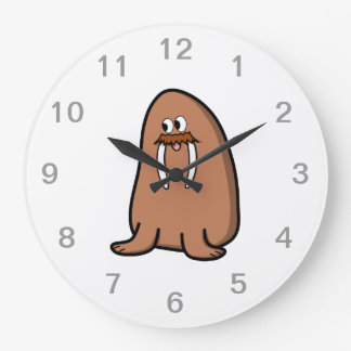 Walrus. Large Clock