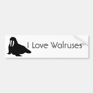 Walrus Love Bumper Sticker