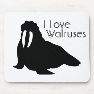 Walrus Love Mouse Pad