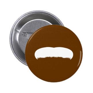 Walrus Mustache Pinback Buttons