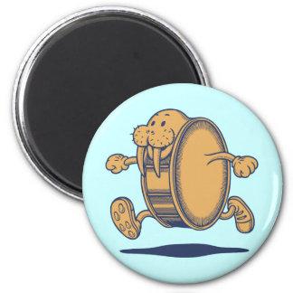 Walrus Run Drum 6 Cm Round Magnet