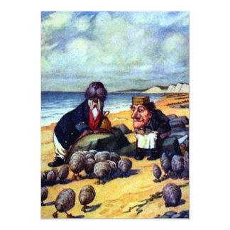Walrus & the Carpenter 13 Cm X 18 Cm Invitation Card