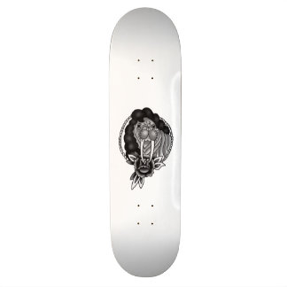 walrus with hair traditional rope frame 21.6 cm old school skateboard deck