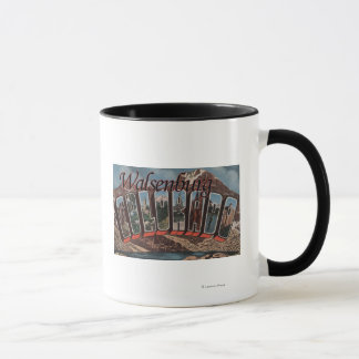 Walsenburg, Colorado - Large Letter Scenes Mug