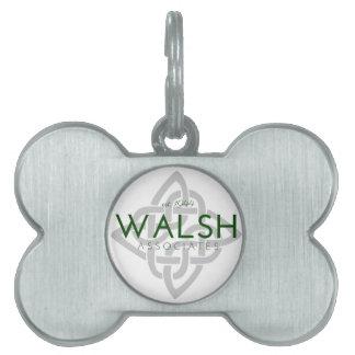 Walsh Associates Logo Pet ID Tag