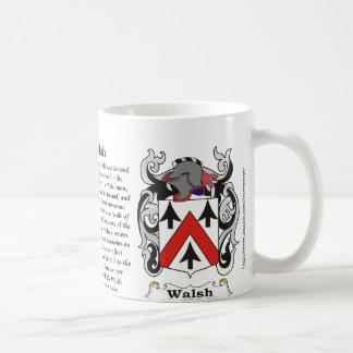 Walsh Family Coat of Arm mug