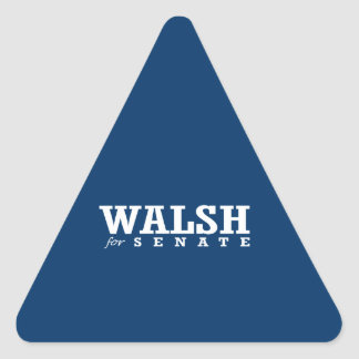 WALSH FOR SENATE 2014 TRIANGLE STICKERS