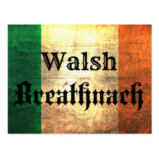 Walsh Irish Flag Postcard