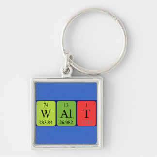 Walt periodic table name keyring