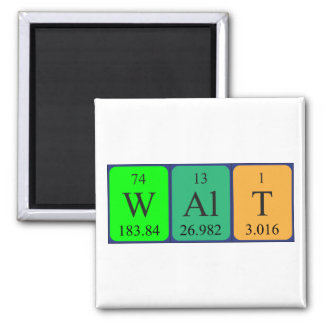 Walt periodic table name magnet