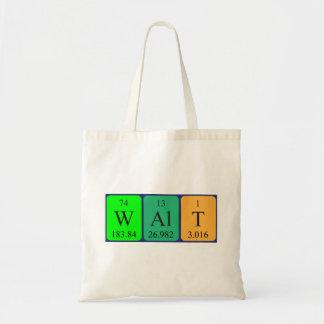Walt periodic table name tote bag
