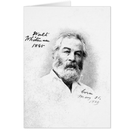Walt Whitman Age 46 Card