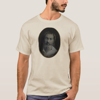 Walt Whitman Colorized Portrait, Age 35 T-Shirt