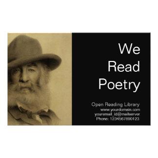 Walt Whitman 14 Cm X 21.5 Cm Flyer