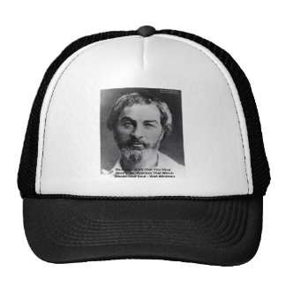 "Walt Whitman ""Insult The Soul"" Quote Gifts & Cards Hat"