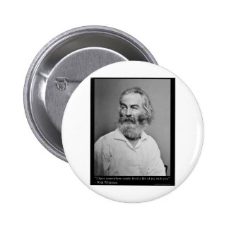 Walt Whitman Joy With You Love Quote Mugs Tees etc 6 Cm Round Badge