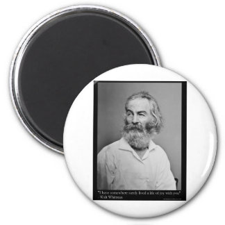 Walt Whitman Joy With You Love Quote Mugs Tees etc 6 Cm Round Magnet