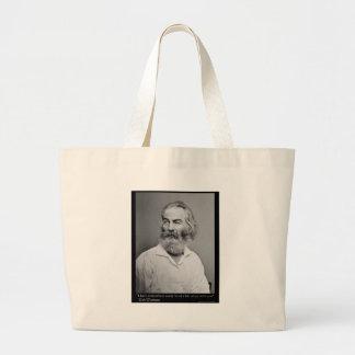 Walt Whitman Joy With You Love Quote Mugs Tees etc Jumbo Tote Bag
