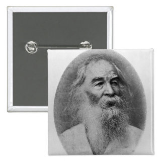 Walt Whitman, photographed in 1889 15 Cm Square Badge