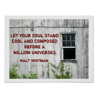 Walt Whitman quote - poster