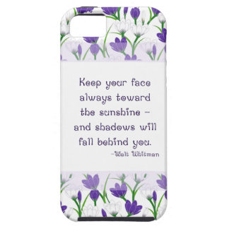 Walt Whitman Quote- Spring Crocus Flowers iPhone 5 Cover