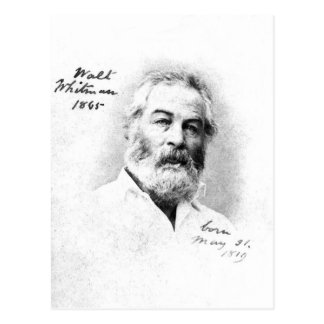 Walt Whitman ❝To be with friends is enough❞ Quote Postcard