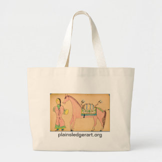 Walter Bone Shirt:  On a Long March Large Tote Bag
