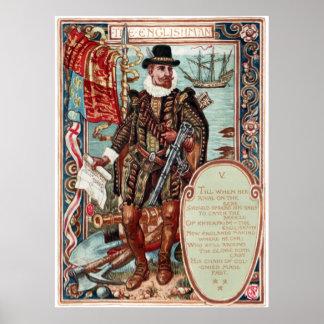 Walter Crane Columbia's Courtship The Englishman Poster