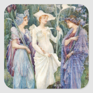 Walter Crane: Signs of Spring Square Sticker