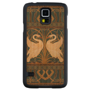 Walter Crane Swan, Rush And Iris Art Nouveau Carved Cherry Galaxy S5 Case