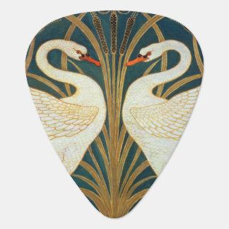 Walter Crane Swan, Rush And Iris Art Nouveau Plectrum